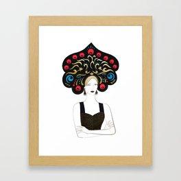 Woman in kokoshnik Framed Art Print