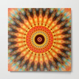 sun life Mandala Metal Print