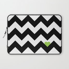 Heart & Chevron - Black/Green Laptop Sleeve