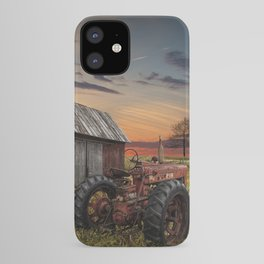Abandoned Farmall Tractor and Barn iPhone Case