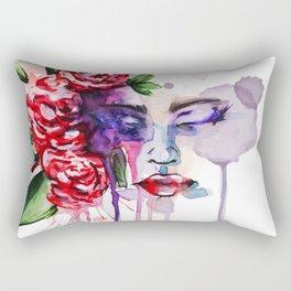 Sunday in the Rose Garden Rectangular Pillow