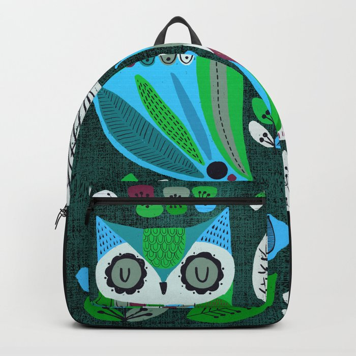 Night Owls Retro Pattern Backpack