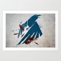 infamous Art Prints featuring inFamous Second Son Good Karma by Kyrsten Carlson