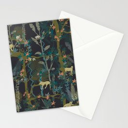 Tropical wild animals in the jungle Stationery Cards