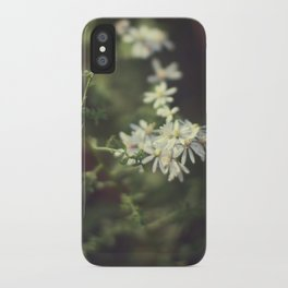 autumn white iPhone Case