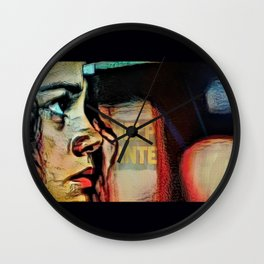 On Que:  Help Wanted Wall Clock