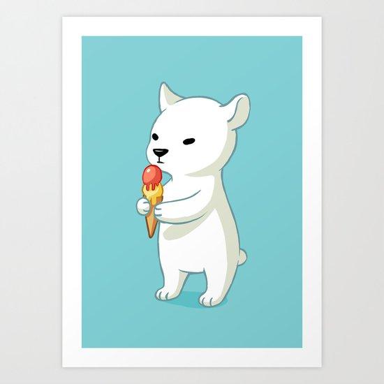Polar Ice Cream Art Print