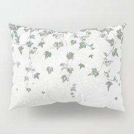 Gray Green Trailing Ivy Leaf Print Pillow Sham