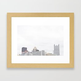 Skyline of Pittsburgh from the North Side Framed Art Print