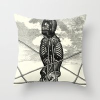 pagan Throw Pillows featuring Pagan practioners by DIVIDUS