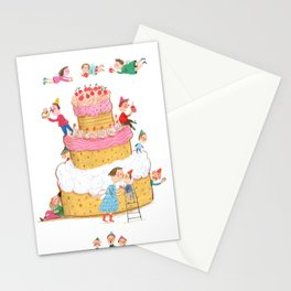 Yummy Cookie Wedding Cake Stationery Cards