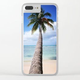 Paradise palms Clear iPhone Case