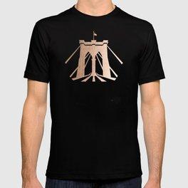 Rosegold on Navy Brooklyn Bridge T-shirt