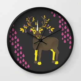 Reindeer Unicorn Wall Clock