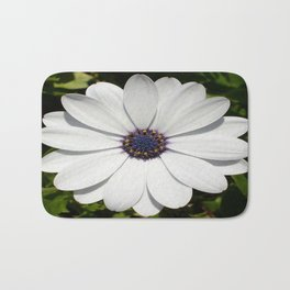 Beautiful Blossoming White Osteospermum  Bath Mat