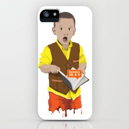 Thought Provoking Kid iPhone Case