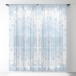 Baby Blue Boho Mandala Sheer Curtain