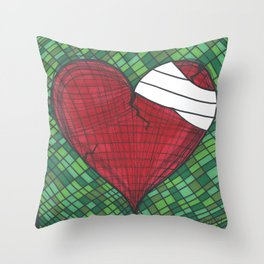 He Heals the Brokenhearted (Psalms 147:3) Throw Pillow