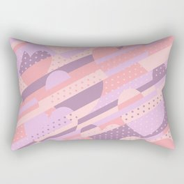 Sweet Heart Pattern (Pastel Coral Pink, Lavender) Rectangular Pillow