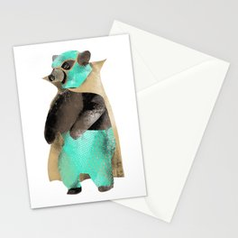 Luchador Bear Stationery Cards