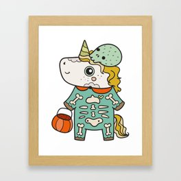 Unicorn Halloween Framed Art Print
