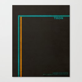 """""""Tron"""" Film Inspired Vintage Movie Poster Canvas Print"""