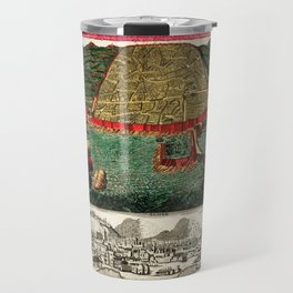 Map Of Algiers 1730 Travel Mug