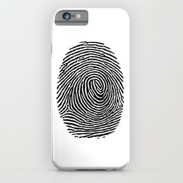 Fingerprint CSI crime scene iPhone Case
