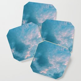 Pink in blue Coaster