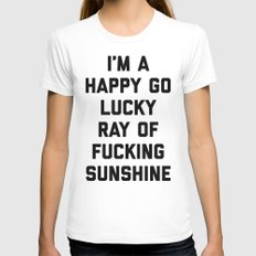 Ray Of Sunshine Funny Quote White Womens Fitted Tee X-LARGE