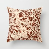 lace Throw Pillows featuring Lace by Kerens