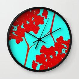 hydrangea shape Wall Clock
