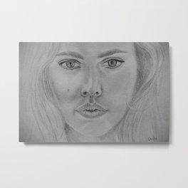 Scarlett Johansson - My drawings series Metal Print