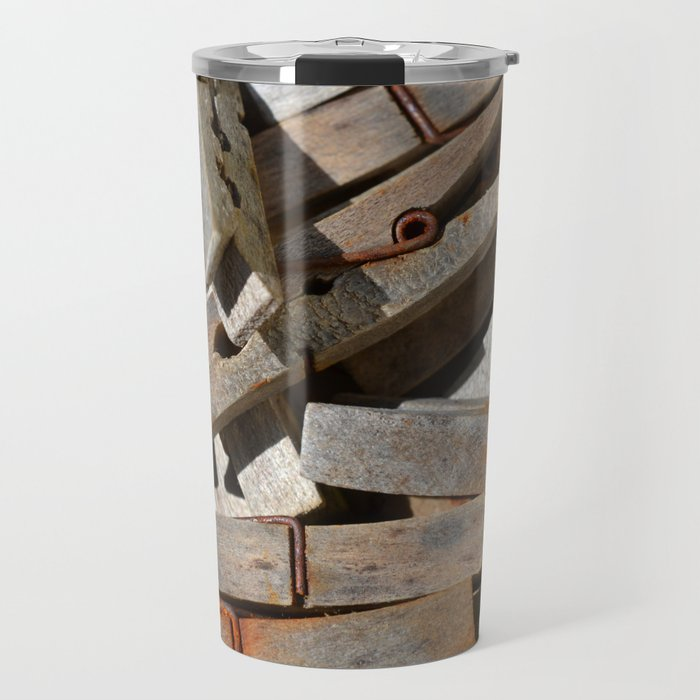 Wooden Pegs Travel Mug