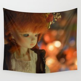 Doll in the light Wall Tapestry
