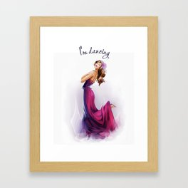 dancing ballerina1 Framed Art Print