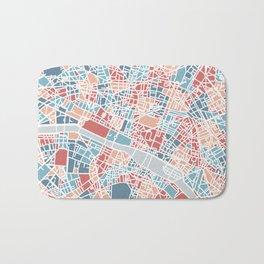 Colorful Paris map Bath Mat