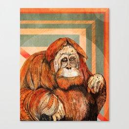 Mr. Orangutan Canvas Print