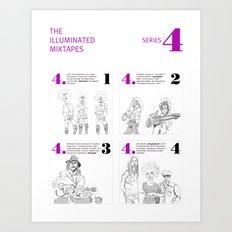 The Illuminated Mixtapes, Series 4 Art Print