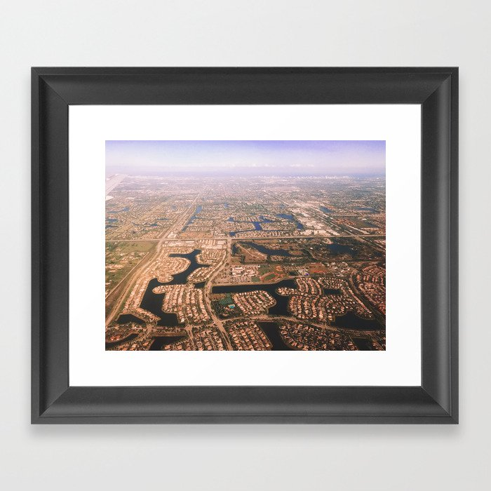 Aerial View Pembroke Pines Florida Framed Art Print By