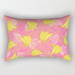 Banana Bunches - Pink Coral Rectangular Pillow