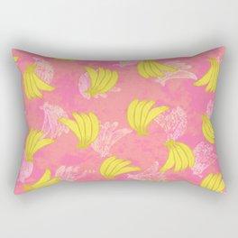 Banana Bunches - Pink Coral Rectangular Pillow