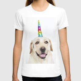 Funny Cute Unicorn Labrador T-shirt