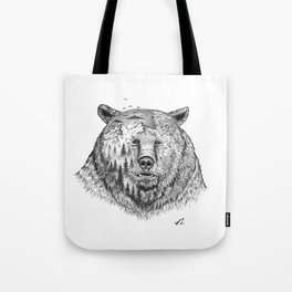 Grizzly forest Tote Bag