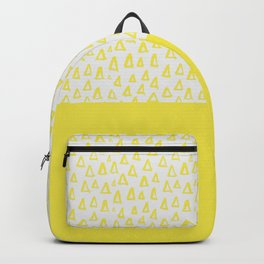 Triangles yellow Backpack