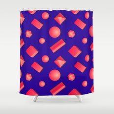 Colorful pattern of geometric shapes. Shower Curtain