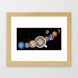 Coffee in Space 2 Framed Art Print