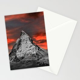 Matterhorn of Zermatt, Switzerland at sunset Stationery Cards