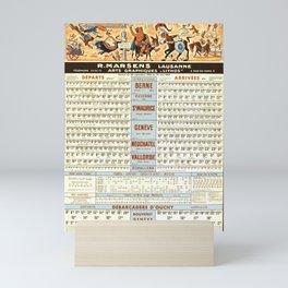 plakate horaires cff et cgn r marsens lausanne service du 30 septembre 1962 au 25 mai 1963 cff sbb Mini Art Print