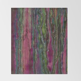 Spellbinding Impasse (Bioluminescent Field) Throw Blanket